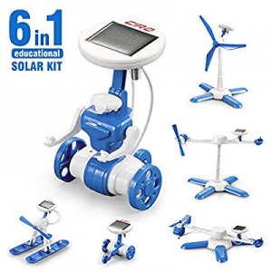 CIRO Solar Robot Science Kit 6-in-1 STEM Learning Building Toys for Kids now 50.0% off , Powered P..