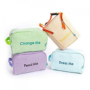 20.0% off Easy Baby Diaper Bag Organizer - Starter Set of 4 Pouches Insert Cubes Large for Backpac..