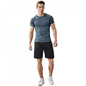 70.0% off Mens Sports Suits Fitness Training Sportswear Compression Quick Drying Skinny Fit Workou..