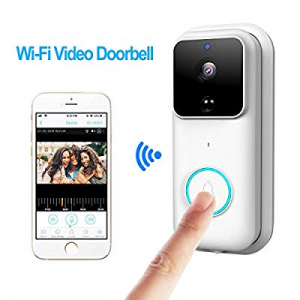 One Day Only!KAMRE Wireless Video Doorbell now 35.0% off , HD 720P Home Security Camera with 166° ..