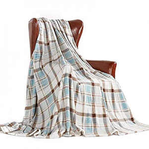 MERRYLIFE Throw Blanket Plaid Sherpa | Ultra-Plush now 60.0% off ,Soft, Colorful, Oversized | Deco..