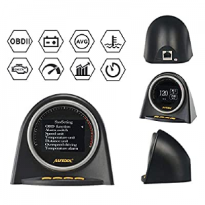 AUTOOL 2 OBD II OBD2 EUOBD HUD Head Up Display for Vehicle Speed MPH KM/h now 20.0% off ,Engine RP..