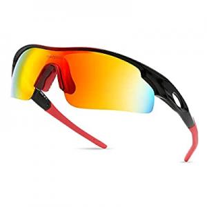 50.0% off modesoda Men Sports Sunglasses Polarized for Baseball Fishing Cycling Flexible TR90 Fram..