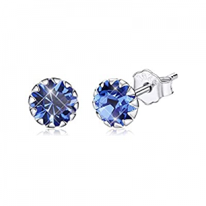 30.0% off BAMOER Birthstone Stud Earrings for Girls Hypoallergenic 925 Sterling Silver Cubic Zirco..