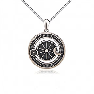 SILVER MOUNTAIN S925 Sterling Silver Sun Crescent Moon Star Celestial Jewelry Pendant Necklace for..