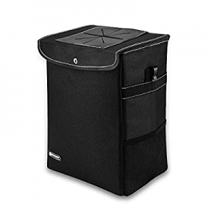 One Day Only!ROYAMY Car Trash Can with Lid now 50.0% off ,Car Trash Bag Hanging with Storage Pocke..