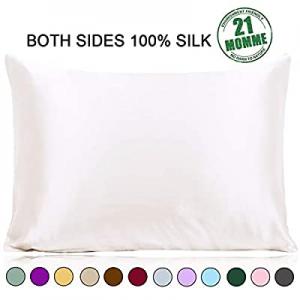 Ravmix 100% Pure Natural Mulberry Silk Pillowcase Queen for Hair and Skin with Hidden Zipper now 7..