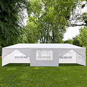 Wedding Tent,10'x30' Outdoor Canopy Party Tent, Sunshade Shelter with Upgraded Thicken Steel Tube ..