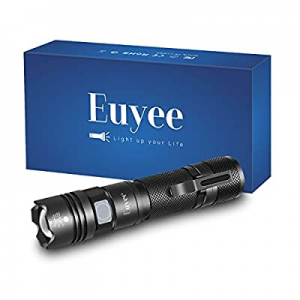 Euyee Rechargeable LED Flashlight now 50.0% off ,800 Lumens Zoomable Flashlight, 5 Model Water Res..