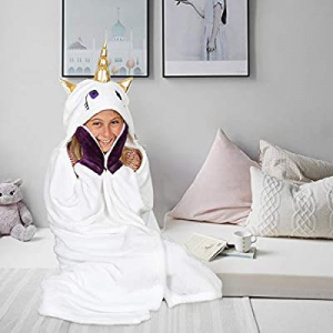 75.0% off Kanguru Wearable Hooded Blanket Gifts for Girl 5 6 7 8 9 10 Year Old- Fun Christmas and ..