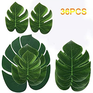 One Day Only!CocoHut Tropical Palm Leaves Plant Imitation Leaf - Hawaiian Luau Party Jungle Table ..