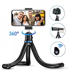 One Day Only!Phone Tripod now 40.0% off , Apexel Flexible Tripod Stand with Wireless Remote Shutte..