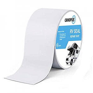 """One Day Only!CANOPUS RV Roof Sealant Tape now 25.0% off , White - 4"""" x 20', Roof Patch Repair Tape.."""