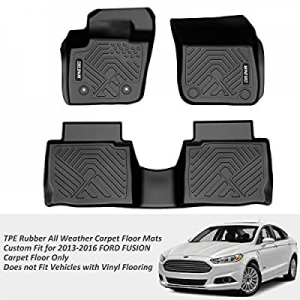 COOLSHARK Ford Fusion Floor MATS now 65.0% off , TPE Rubber All Weather Carpet Floor Mats for Cars..