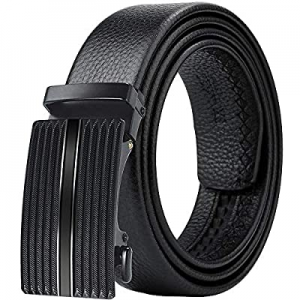 Yikomi Men's Belt Leather Rachet Belts for Men with/without Buckle Gift Box now 60.0% off