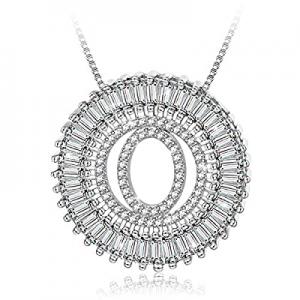 HOTIE Silver A-Z Alphabet Pendant Necklaces Charms Women Initial Letter Chain Necklace now 50.0% o..