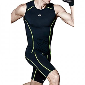 10.0% off sunseen Men's Compression Suit Cool Dry Fit Running Tights Sports Leggings Baselayer Pan..