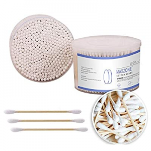 500 Count Double Round Buds Cotton Swabs With Nature Bamboo Sticks Cotton Buds , 3.14 inch now 33...