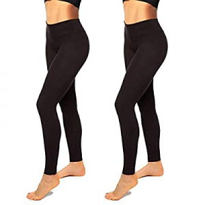 50.0% off Hi Clasmix 2/3 Pack Workout Leggings for Women-High Waisted Yoga Leggings Athletic Non S..