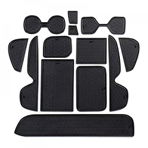 Proadsy Center Console & Cup Holder Rubber Liners for All 2020 2019 RAV4 Model 13-pc Set (Black) n..