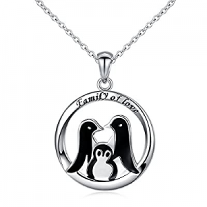 """925 Sterling Silver PenguinRound Pendant Necklace for Women, 18"""" now 50.0% off"""