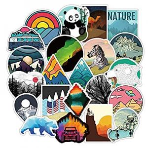 70.0% off Waterproof Stickers for Water Bottles Aesthetic Vinyl Sticker Decals for Hydro Flask Lap..