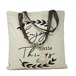 Decorative Expressions - 18x18 Canvas Reusable Tote Bag - Enjoy The Little Things now 50.0% off