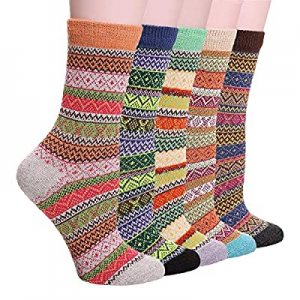 Womens Thick Warm Wool Socks Knit Comfort Casual Cotton winter Crew Socks Gifts now 50.0% off