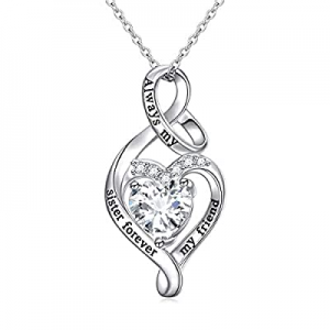 One Day Only!45.0% off 925 Sterling Silver Always My Sister Daughter Mother Forever My Friend Love..