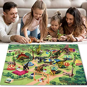 One Day Only!Dinosaur 9 Toy Figure & Activity Play Mat|Create a Dino World with this Educational R..
