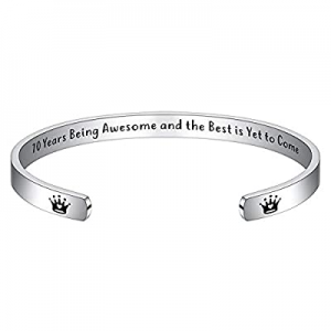 Birthday Gifts for Her Women now 60.0% off , Bracelets for Women Engraved Funny Quote 21st 25th 30..
