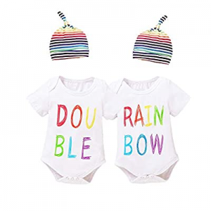 Aslaylme Twins Baby Clothes Baby Boy Gentleman Outfit Set with Hat now 35.0% off