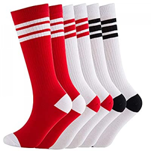 NEVSNEV Knee High Tube Socks Comfortable and Breathable with Triple Stripes for Boys now 75.0% off..