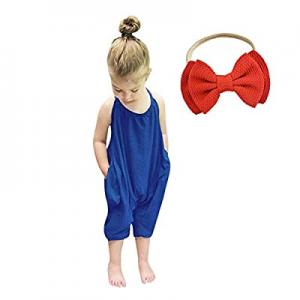 30.0% off Baby Romper Summer Jumpsuits for Girls Kids Backless Harem Strap Romper Jumpsuit Toddler..