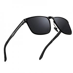 Men's Retro Driving Polarized Sunglasses Ultra Light UV Protection Al-Mg Metal Frame now 70.0% off