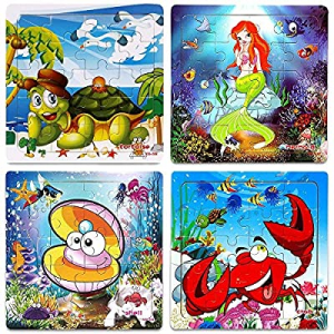 50.0% off Wooden Jigsaw Puzzles for Kids Age 2-5 Year Old Animals Preschool Puzzles for Toddler Ch..
