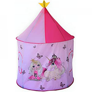 One Day Only!Play Tent for Kids now 50.0% off , Pink Unicorns Pop-Up Castle Style Princess Playhou..