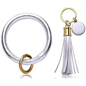One Day Only!60.0% off Key Chains Ring Bracelet for Women Tassel - Bangle Round Keychain Rings for..