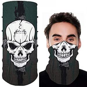 Bandana for Rave Face Mask Dust Wind UV Sun, Neck Gaiter Tube Mask Headwear now 50.0% off