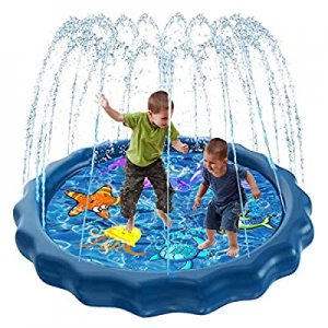 Luxital Splash Sprinkle Pad for Kids now 50.0% off , Fountain Outdoor Inflatable Water Toys, 59'' ..
