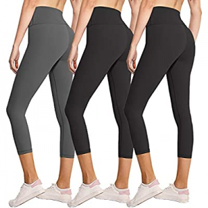 50.0% off 3/7 Pack Womens Leggings-No See-Through High Waisted Tummy Control Yoga Pants Workout Ru..