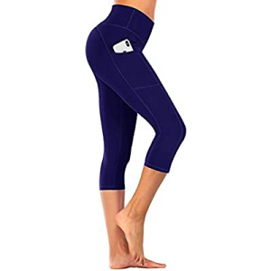 Yoga Pants with Pockets for Women-Tummy Control Bike Higa Waist Capri Leggings now 50.0% off
