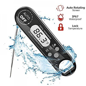 Instant Read Food Thermometer for cooking now 50.0% off ,IP67 Waterproof Ultra Fast Thermometer wi..