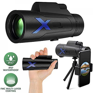56.0% off JZBRAIN HD Monocular Telescope 12X50 High Power Optics Zoom IPX7 Waterproof FMC BAK4 Pri..