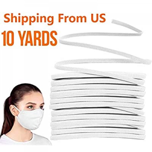 80.0% off D-tal Briaded Elastic Band White Elastic String Cord Heavy Stretch High Elasticity Knit ..