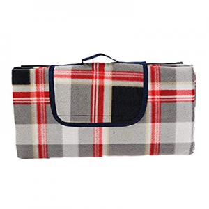 HYSEAS Outdoor Picnic Blanket Plaid - Extra Large Portable Water-Resistant Handy Mat for Camping n..
