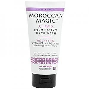 Moroccan Magic Sleep Exfoliating Face Wash | Clean Beauty | Sweet Lavender | Vegan | Cruelty-Free ..