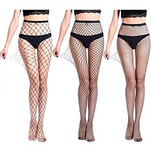 High Waist Tights Fishnet Stockings Thigh High Socks Mesh Net Pantyhose Black now 60.0% off