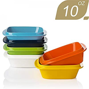 SWEEJAR Porcelain 10oz Square Ramekins with Handle for Baking now 50.0% off , Souffle Dishes, Sauc..