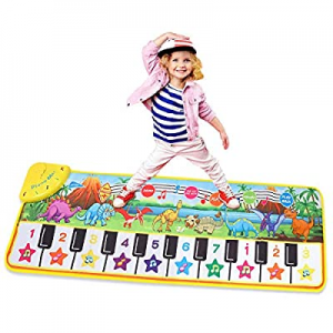 M SANMERSEN Musical Mat for Kids now 55.0% off , Keyboard Dance Mat 19 Keys Keyboard Play Mat with..